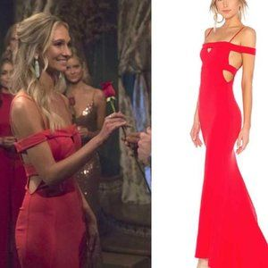 Lovers + Friends Cece Gown Red Rose Size 4 Revolve